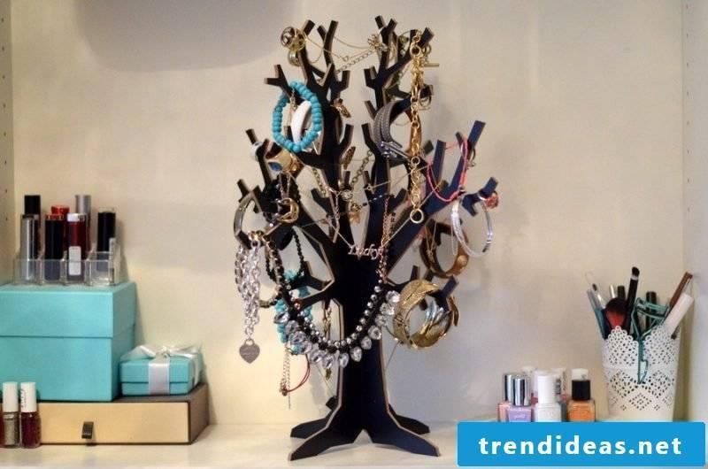 Make jewelry tree jewelry stand yourself