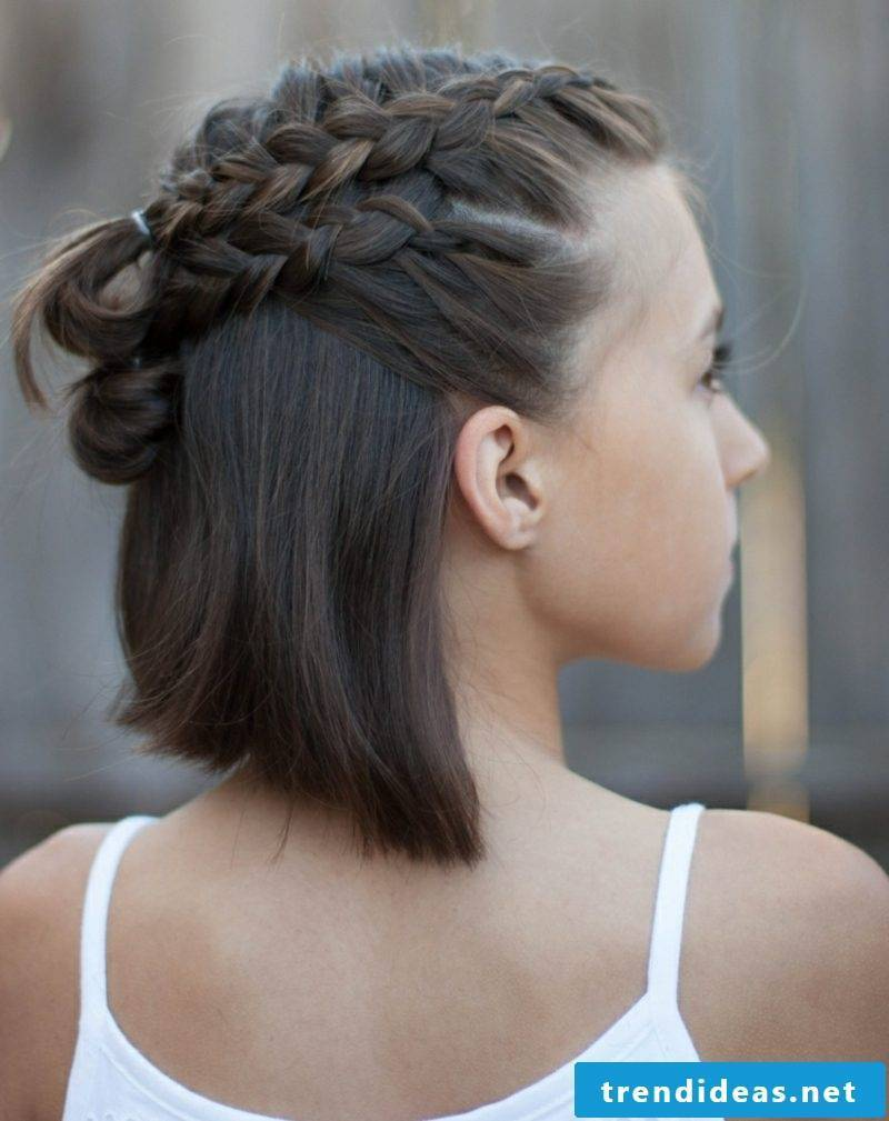 Braided hairstyles short hair great ideas