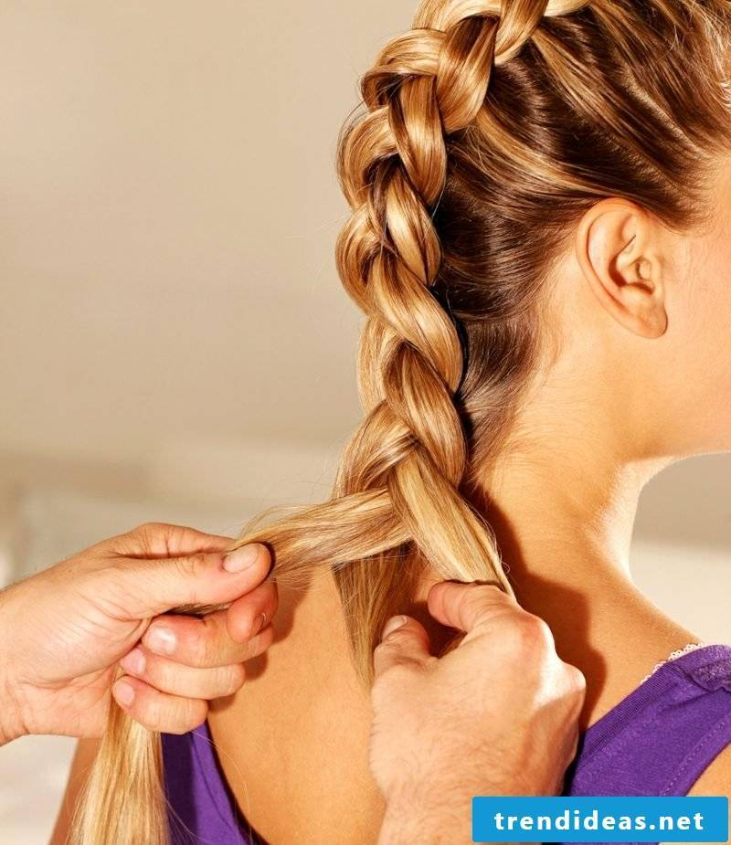 braided hair French braid