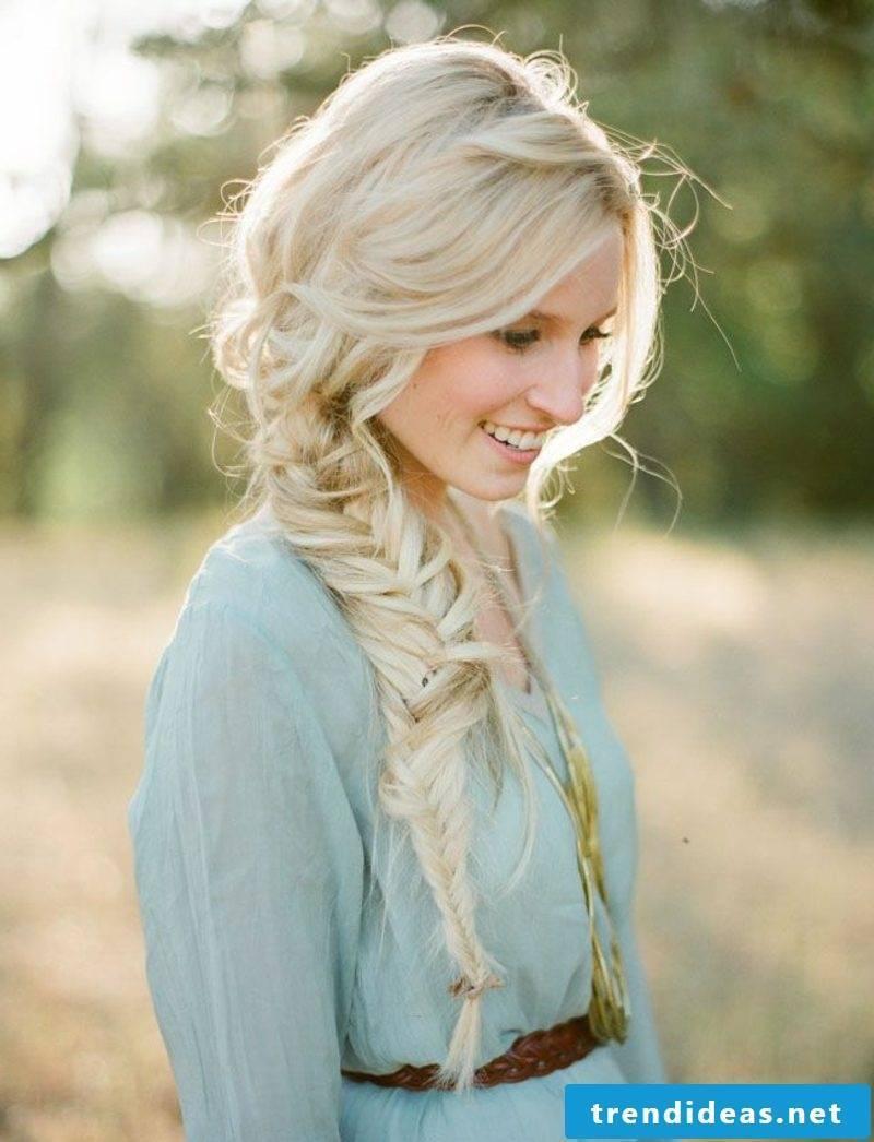 Braided hairstyles elegant herringbone braid