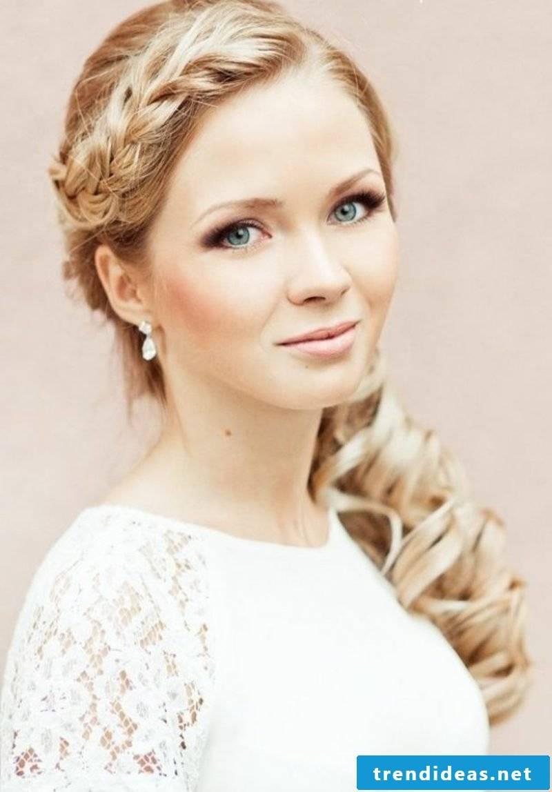 braided hair wedding hairstyles