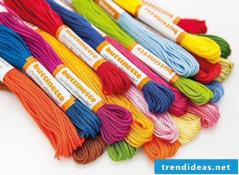 Embroidery learn to buy materials yarn
