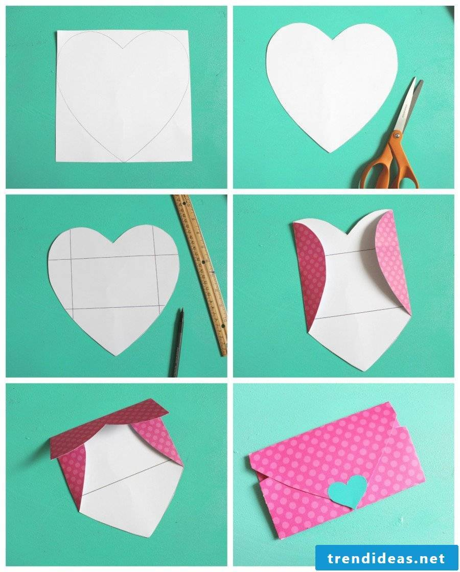 Birefoam fold in heart shape