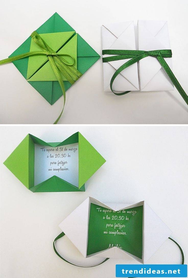 Origami Christmas envelope