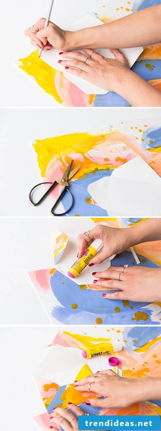 Make watercolor envelope