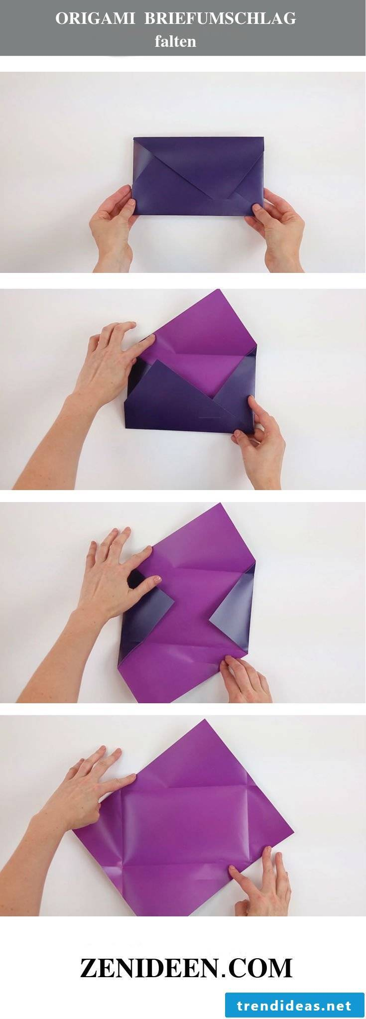 How To Make An Envelope Out Of Paper Without Glue or Tape | DIY ... | 2046x735