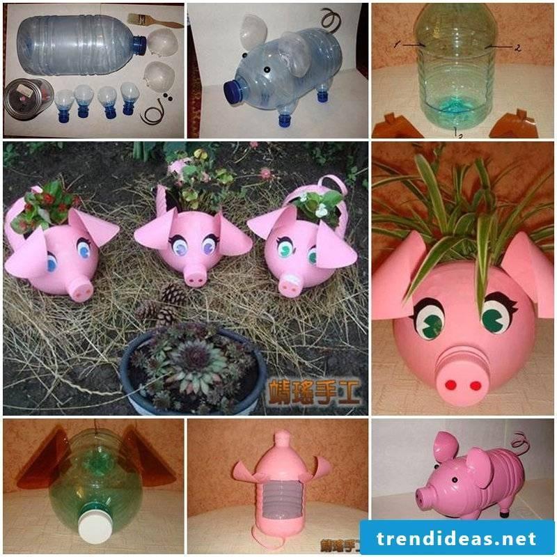 environmentally friendly little pig deco