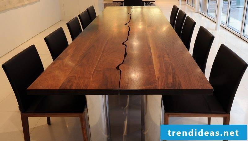 Real wood furniture creative table