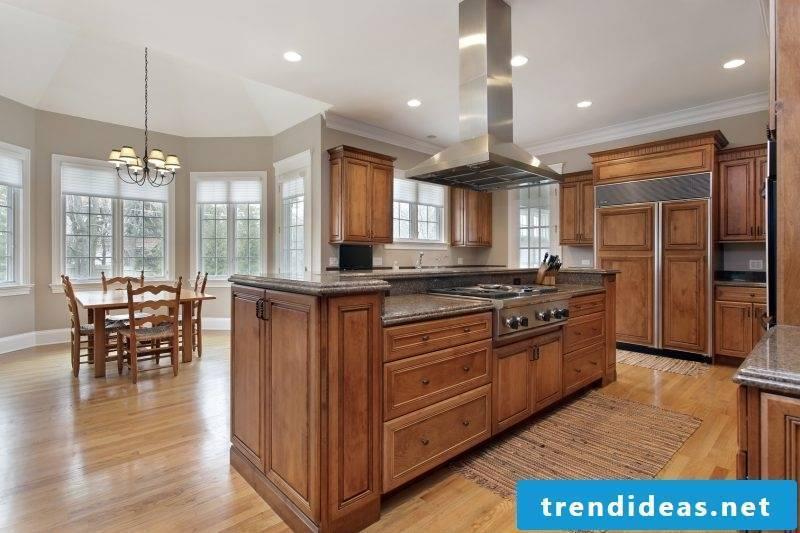 Real wood furniture kitchen