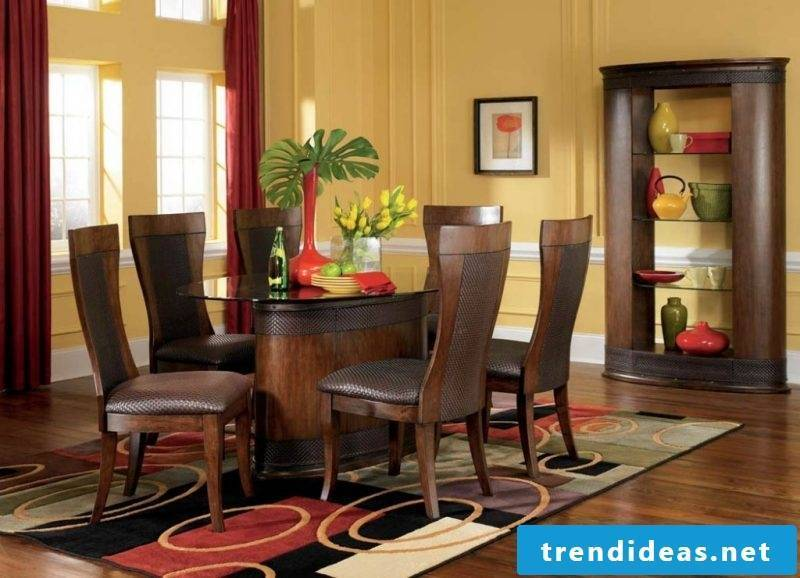 Real wood furniture with leather