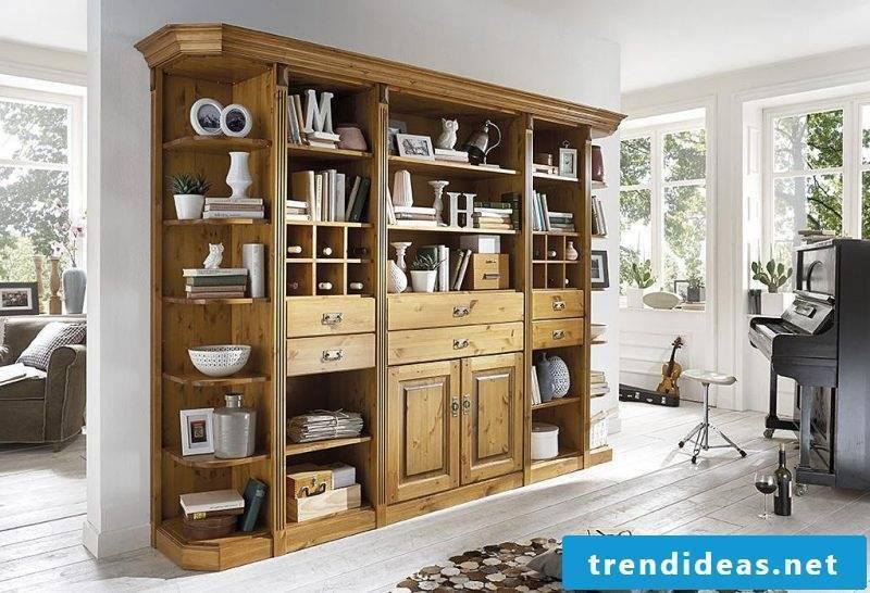 Real wood furniture shelf