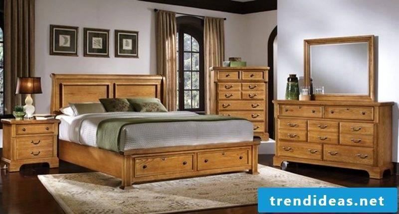 Real wood furniture bedroom