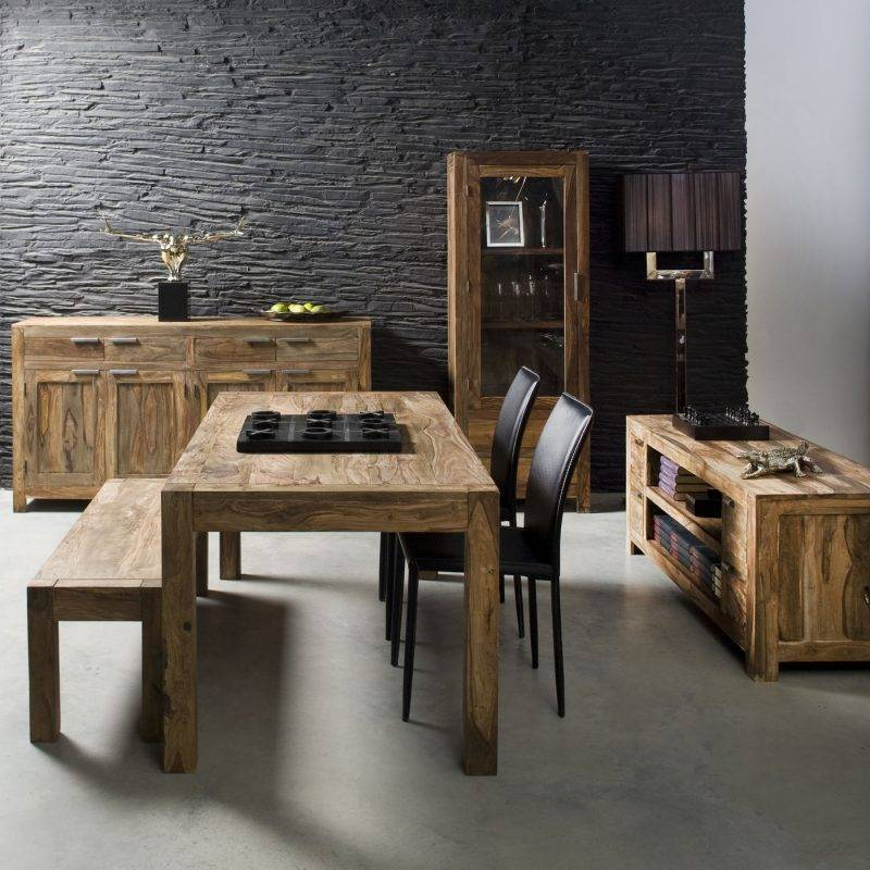 Real wood furniture dining room