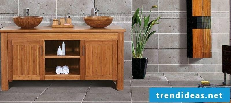 Real wood furniture bathroom
