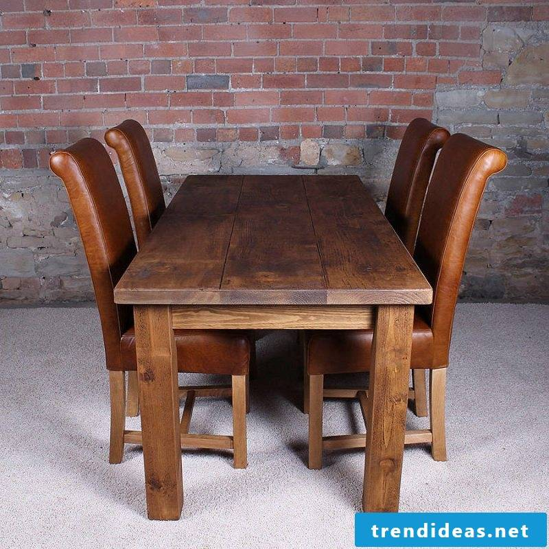 Real wood furniture dining table