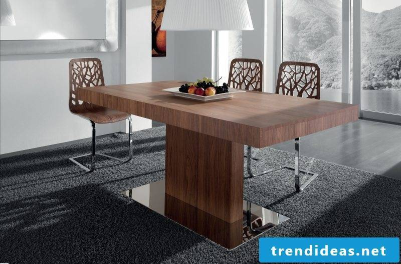 Real wood furniture dining room design