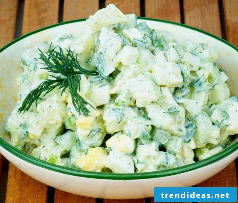 Good Friday food potato salad with dill