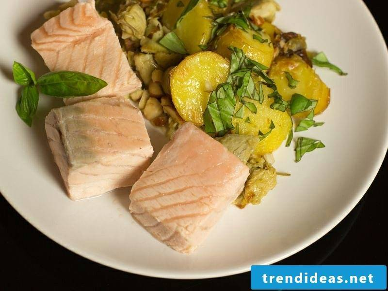 Good Friday 2017 dishes trout potato salad
