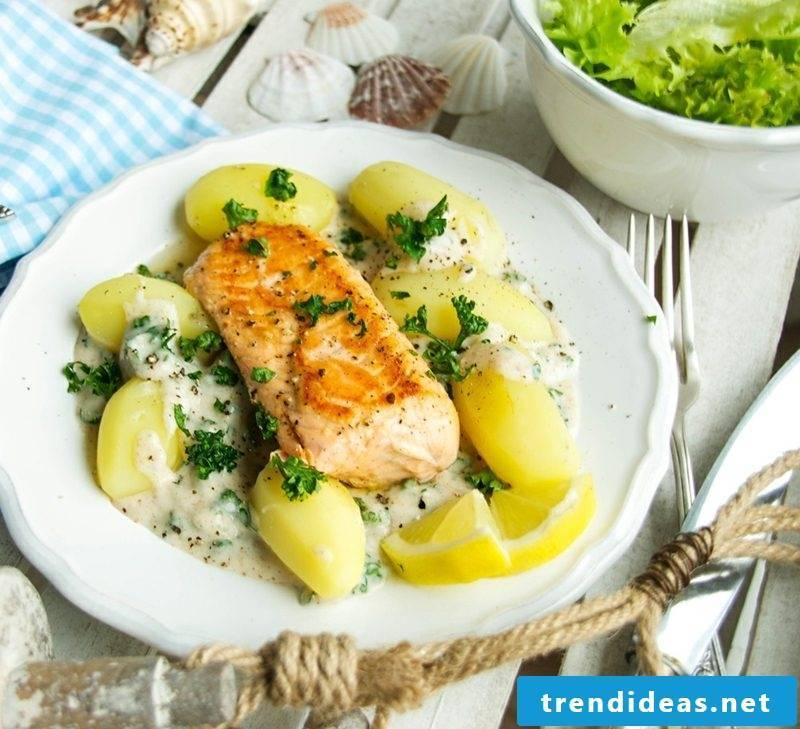 Good Friday Meaning Recipes Pasta salad with trout fillets
