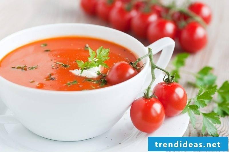 Good Friday food creamy tomato soup