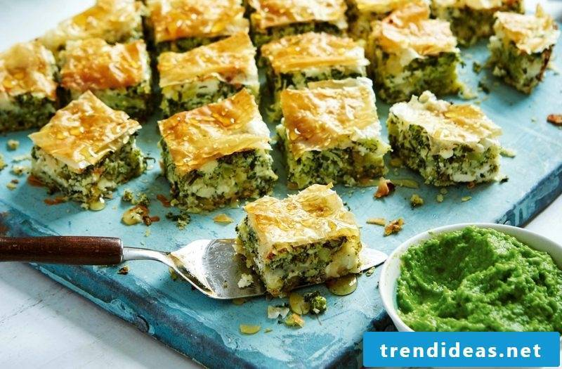 Good Friday dishes to prepare puff pastry with spinach