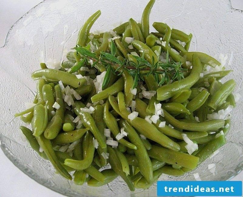 Good Friday food bean salad