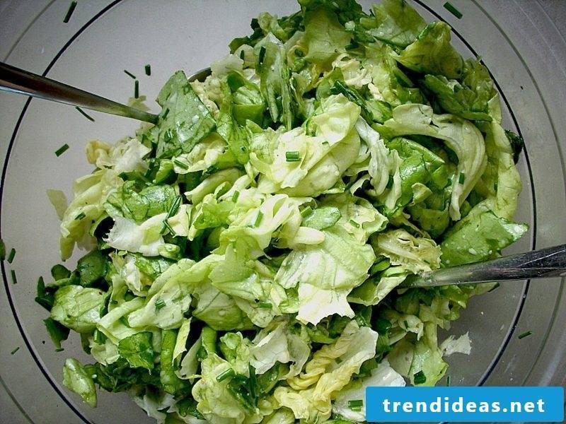 Good Friday food green salad