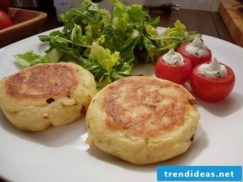 Good Friday food potato cakes