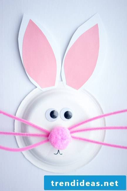 Crafting ideas with children: DIY instructions for Easter bunnies from paper plate