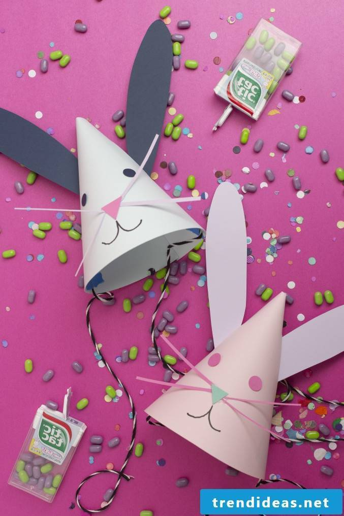 Easter Bunny Craft: Make party hats yourself