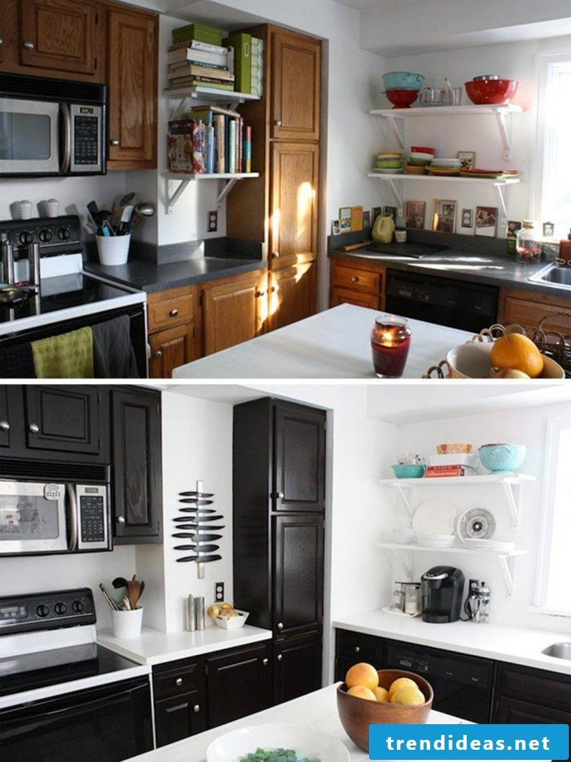 kitchen fronts replace black