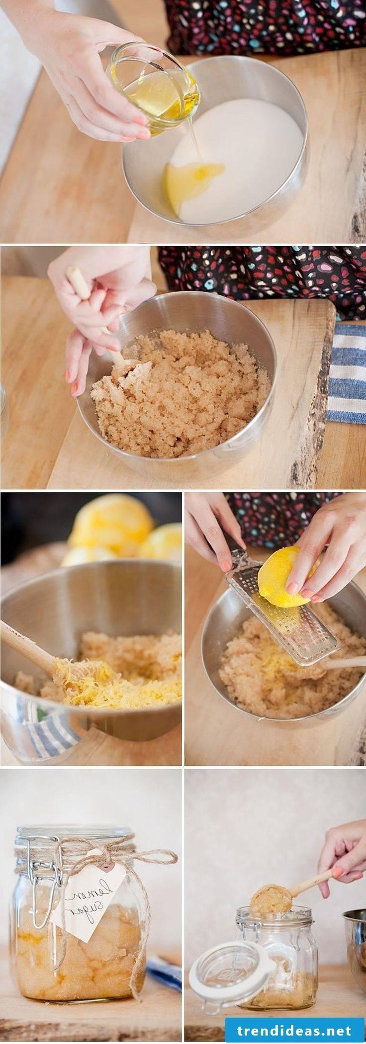 Exfoliate yourself - Lemon sugar scrub recipe