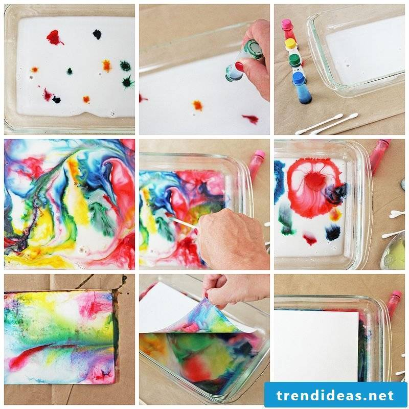 DIY Projects with Kids: Paper dye with milk