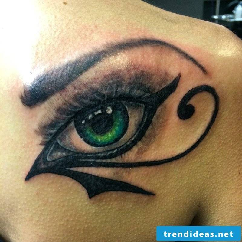 eyes tattoo back