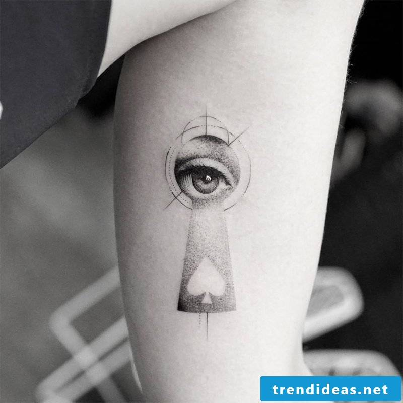 attractive eyes tattoo design