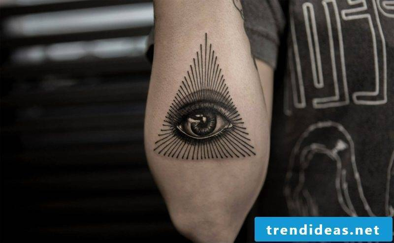triangle eyes tattoo symbol