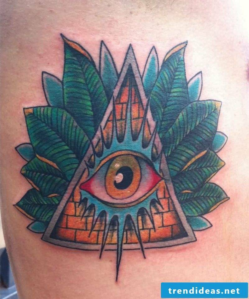 Masonic sign eye tattoo