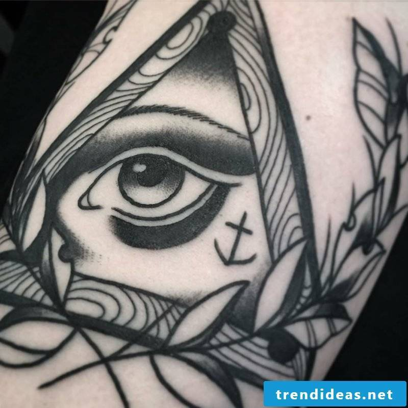 black white eyes tattoo template