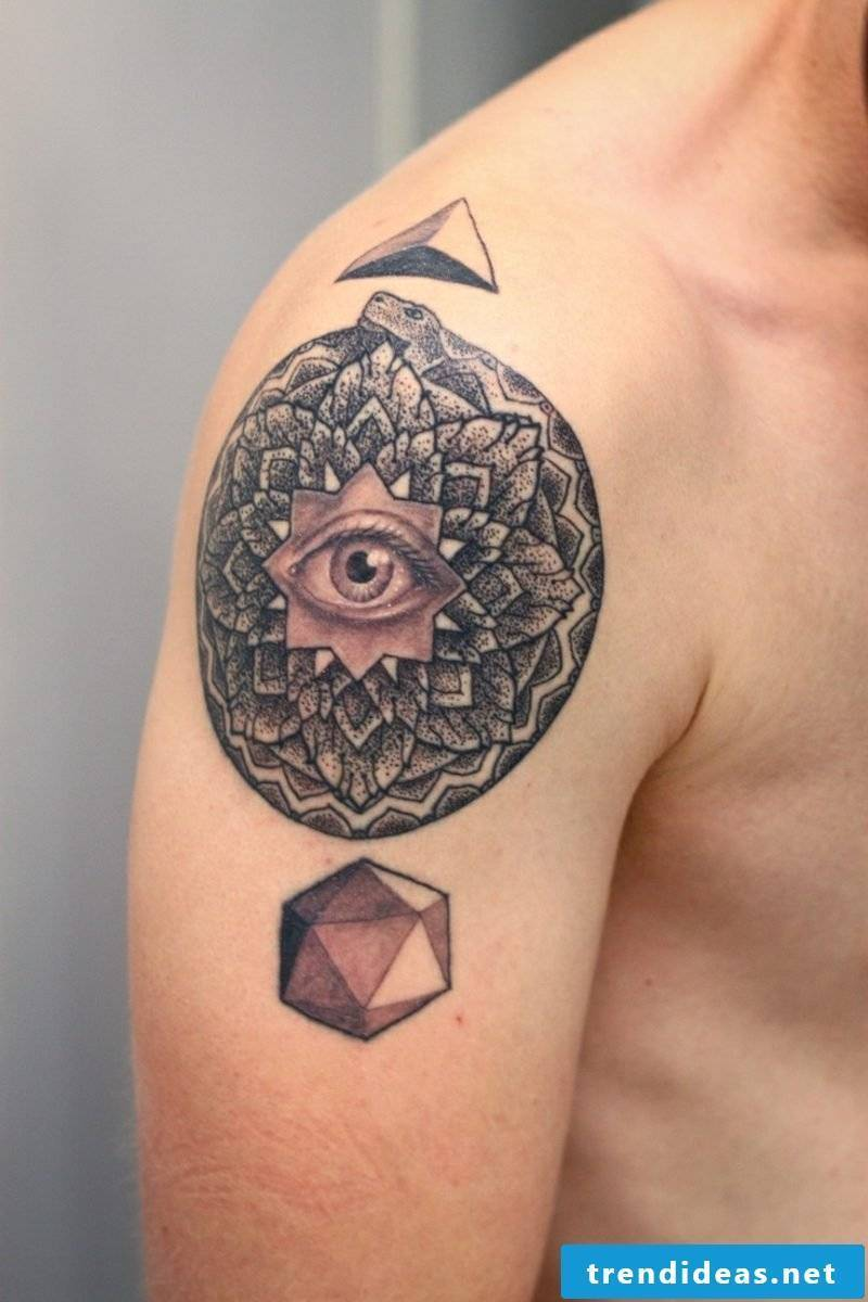 eye tattoo abstract design