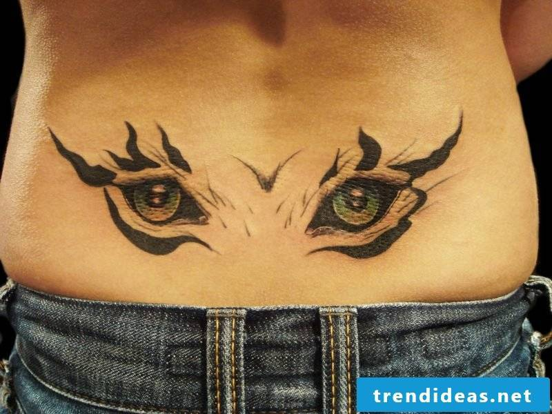 animal eyes tattoo
