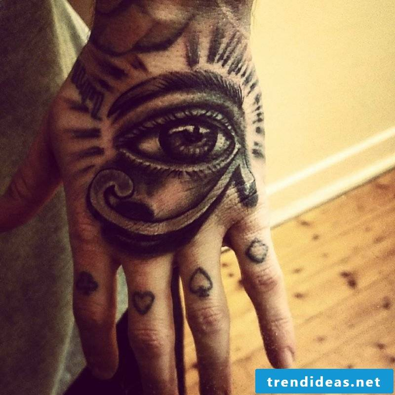 Horus eye tattoo wrist