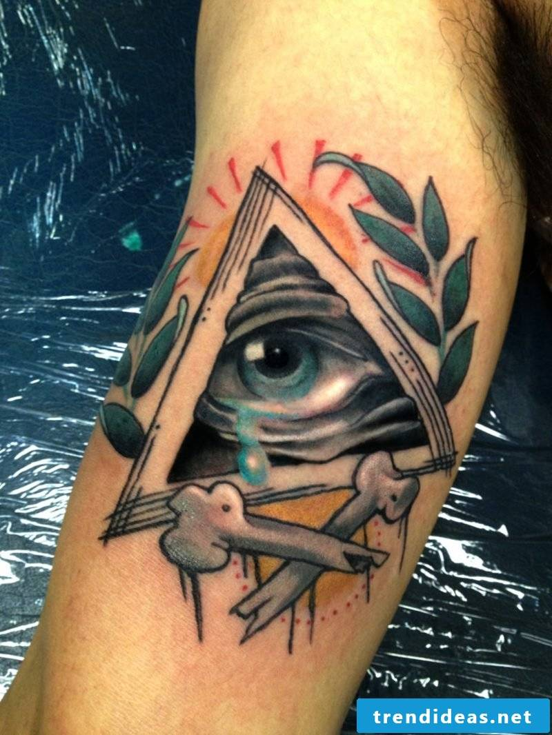 protection eye tattoo design