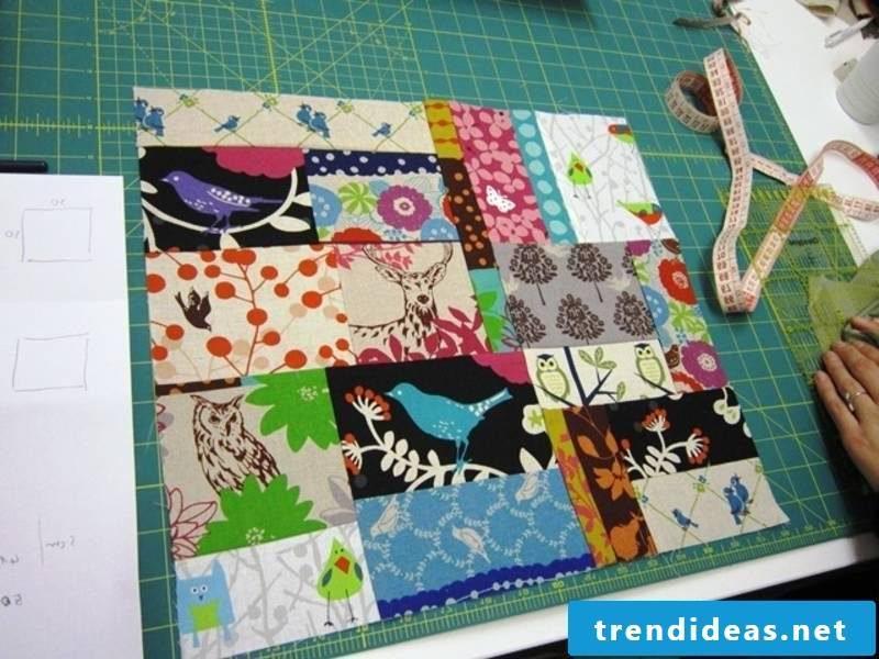 Patchwork blanket sew DIY