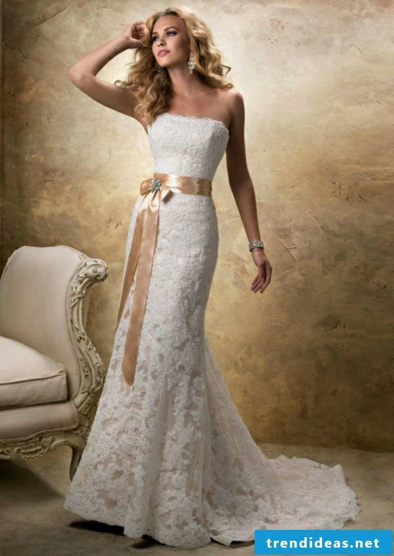 Bridal dress in champagne color