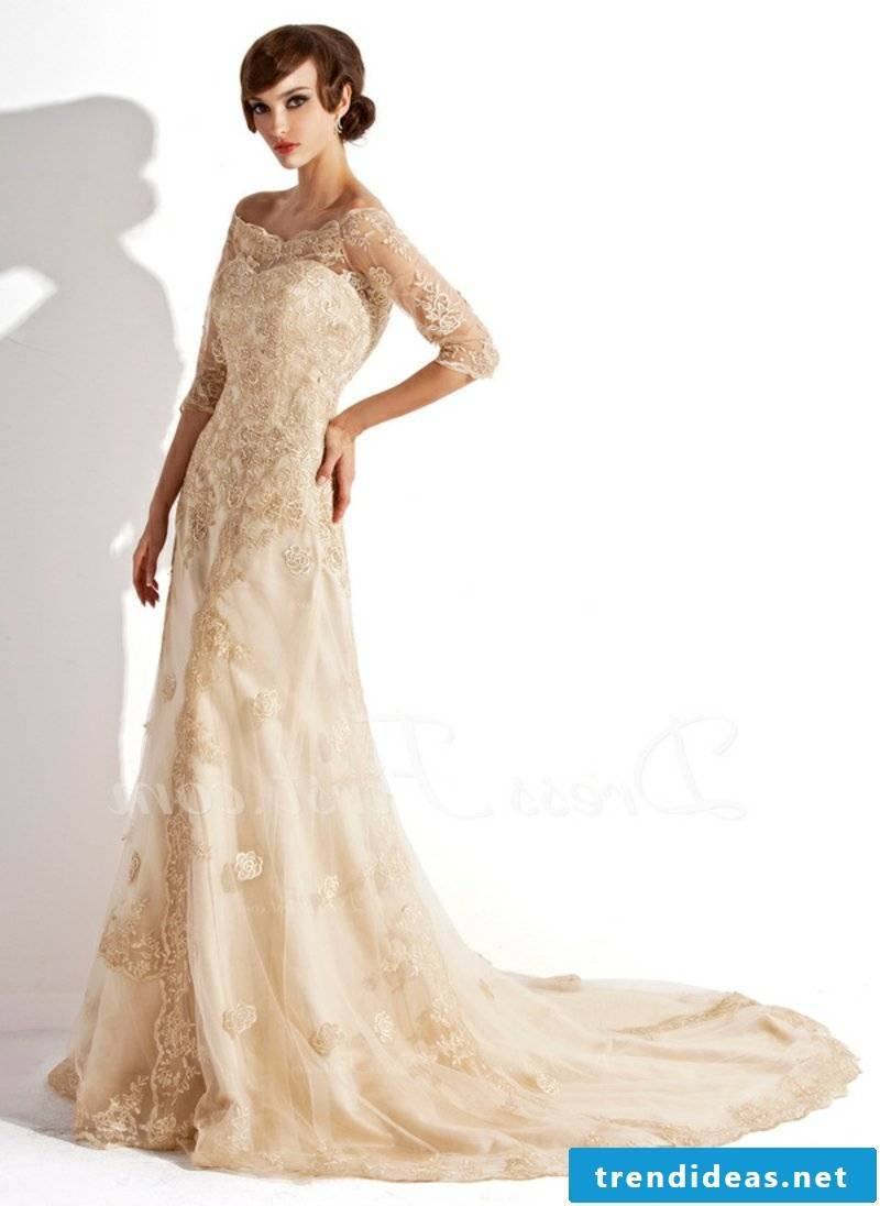 fancy wedding dresses champagne color