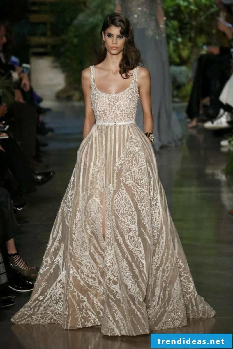Wedding dress champagne color