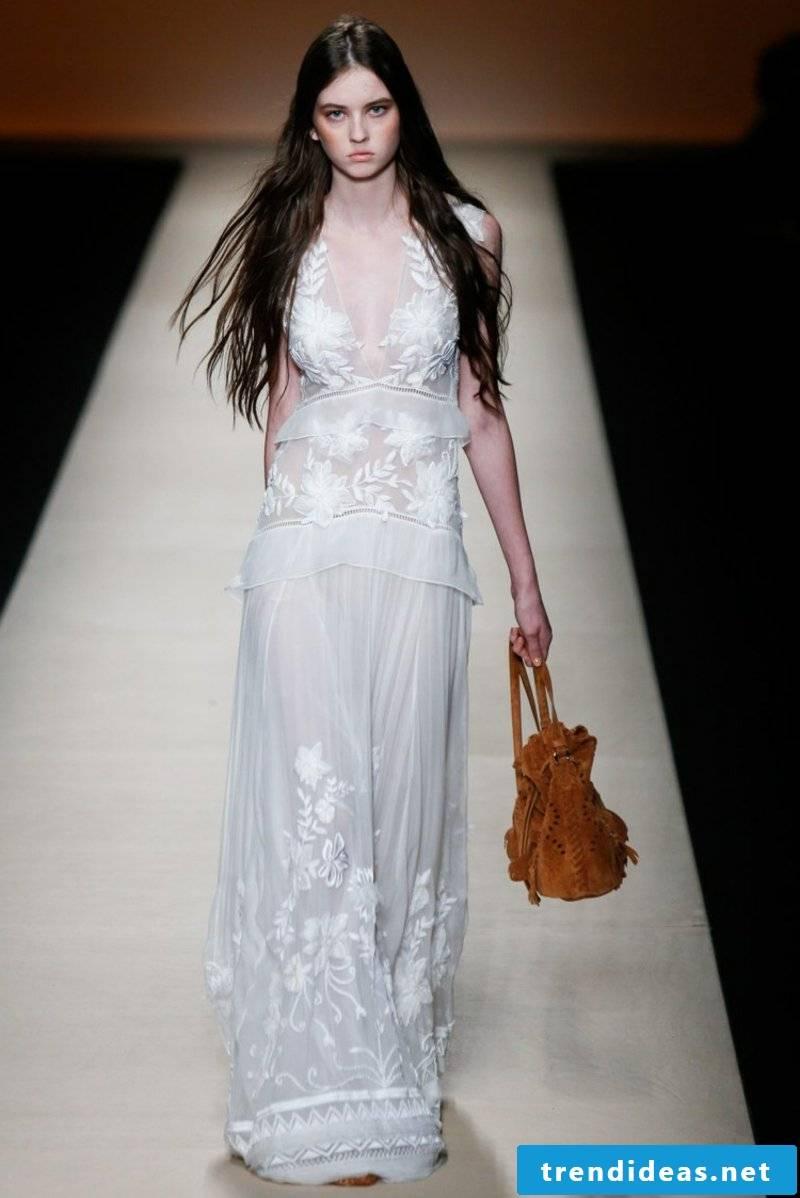 Wedding dress in boho style