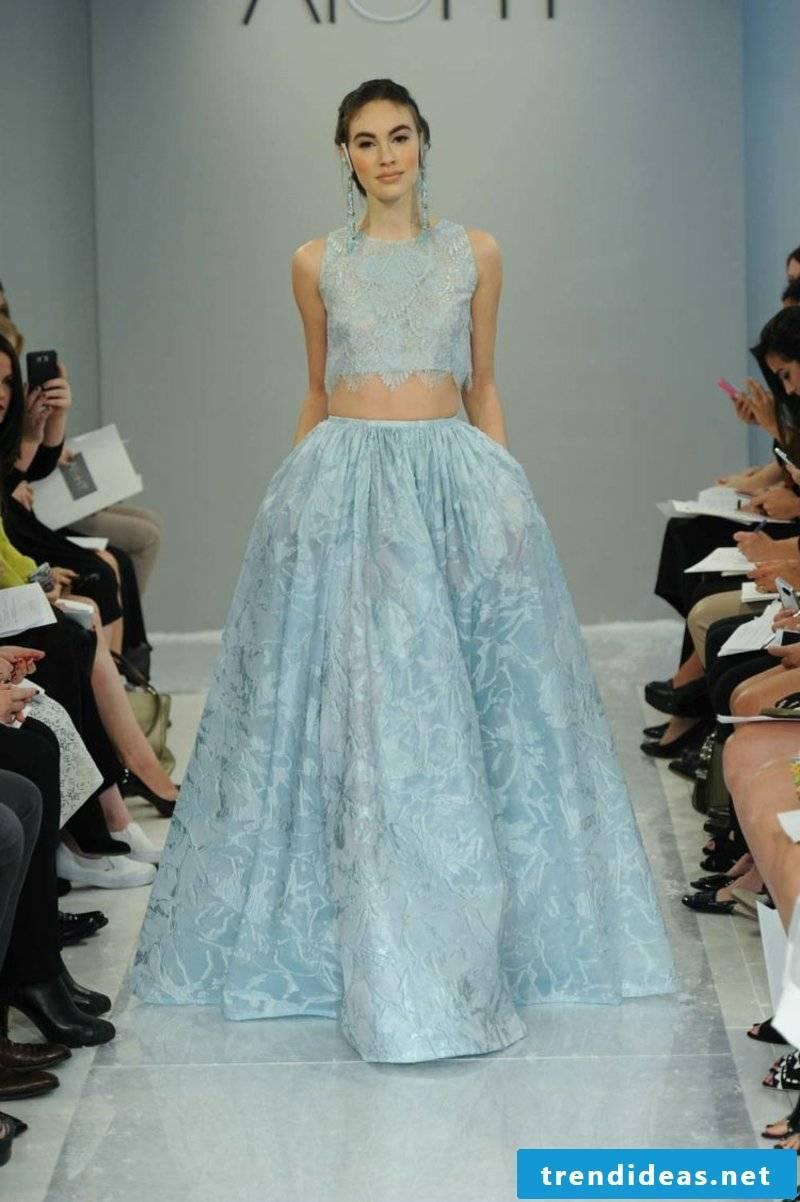Wedding dress in the light blue