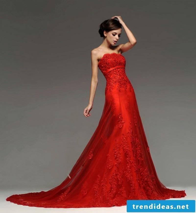 fancy bridal gown in claret