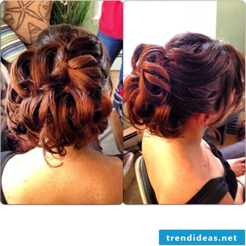 Curly updos evening hairstyle